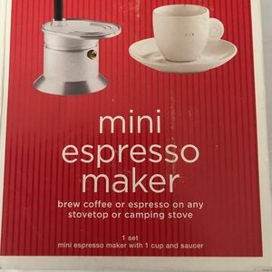 Mini Stovetop or Camping Espresso Maker & Cup